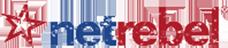 Logo Netrebel, glasvezel provider