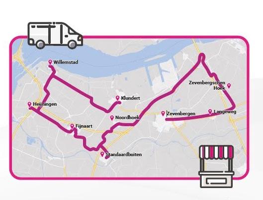 Route glasvezelmarkt Moerdijk